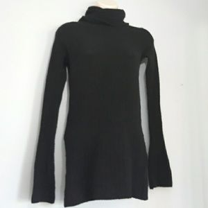 Free People Black Ribbed Turtle Neck Sweater
